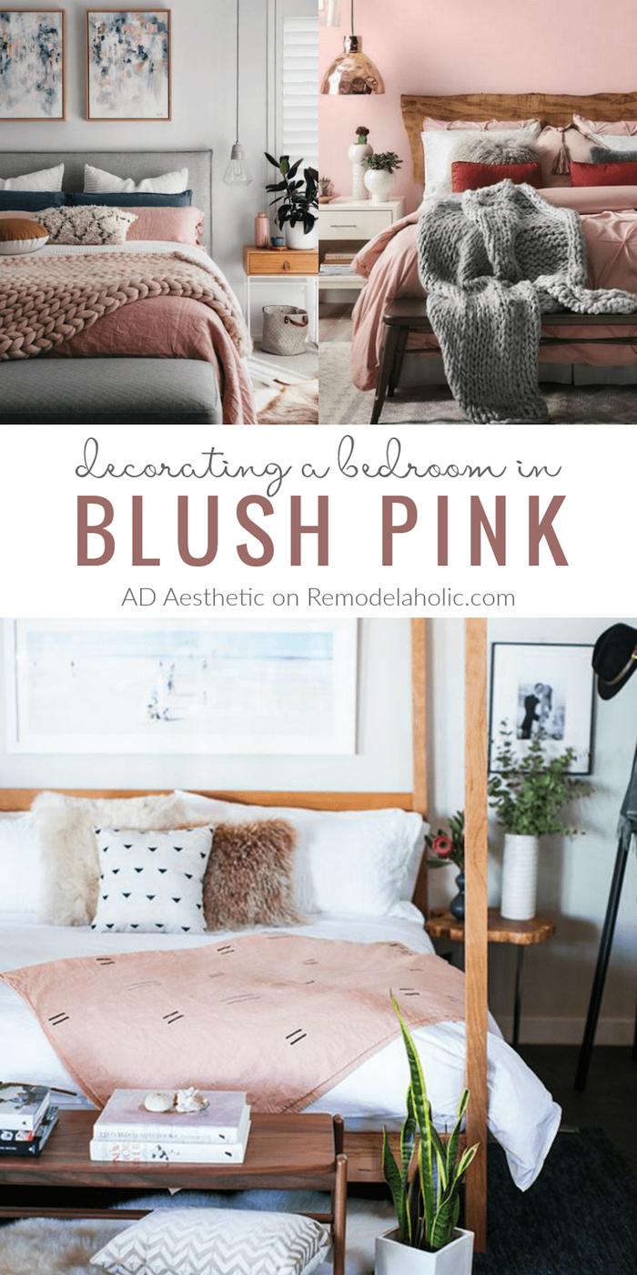 Chambre rose et blanc rose poudree les nouvelles tendances decor moderne blush pink idée déco
