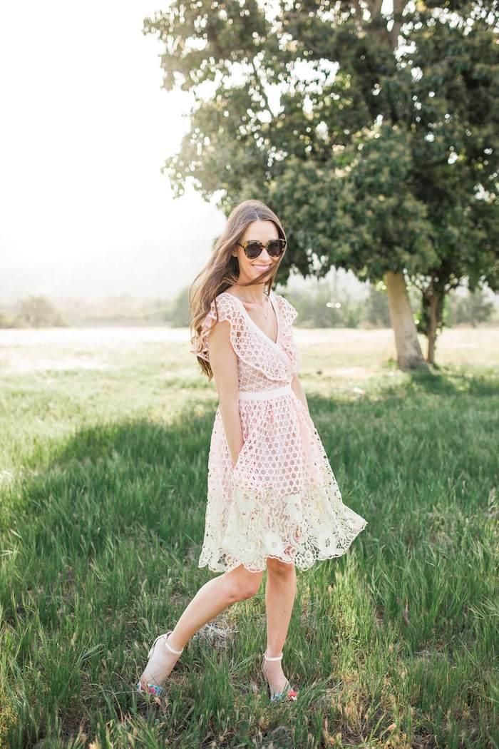 Robe de plage femme dentelle chic robe fluide femme belle tenue à choisir cet été tenue champetre chic