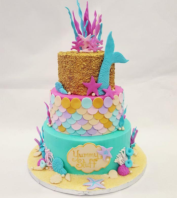 Chouette gateau anniversaire garcon ou gateau anniversaire fille le gâteau aux fruits sirène