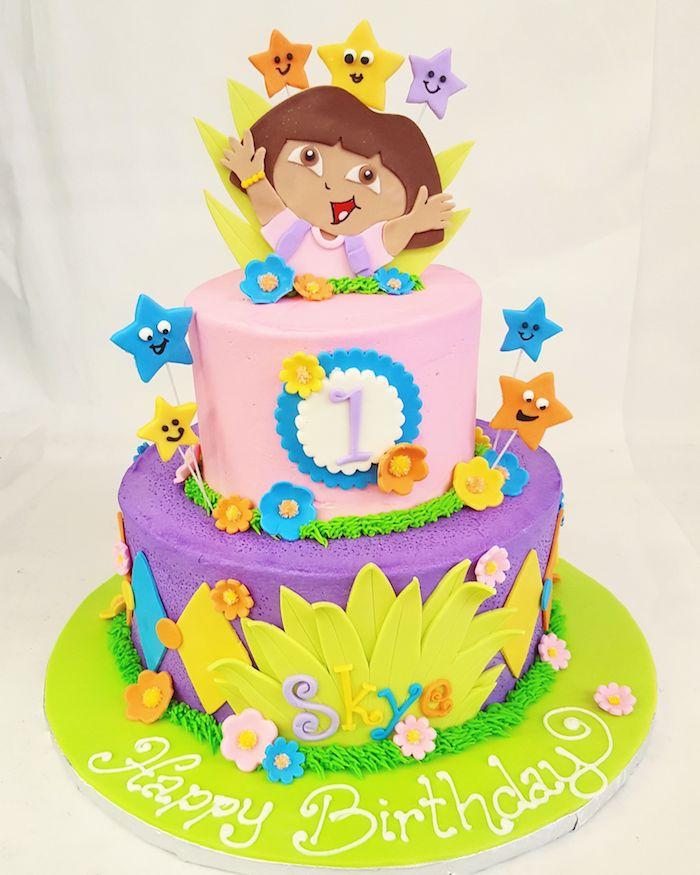 Gateau anniversaire 2 ans gâteau pour enfant recettes de gâteaux et cakes pour enfants dora l'exploratrice cool idée 1 an