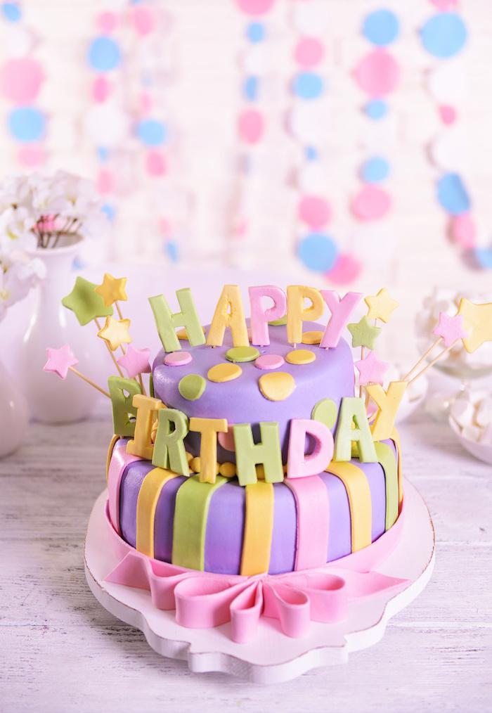 Gateau rapide gateau anniversaire facile gâteau pour enfant préparer un gateau joyeux anniversaire grand gateau pour 24 personnes