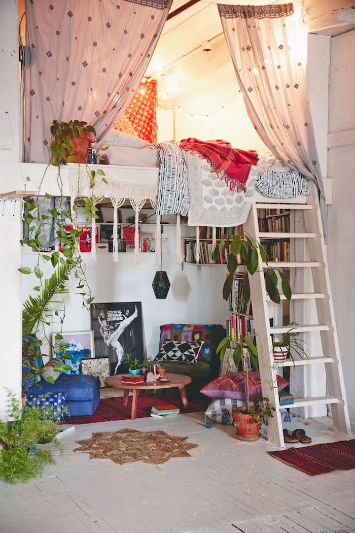 Chambre bleu gris couleur mur chambre cool idée comment décorer une chambre bohème en deux niveaux