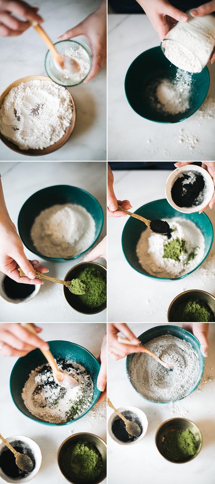 recette de masque fait maison à l'argile, charbon et poudre de thé vert matcha adapté pour tous les types de peaux