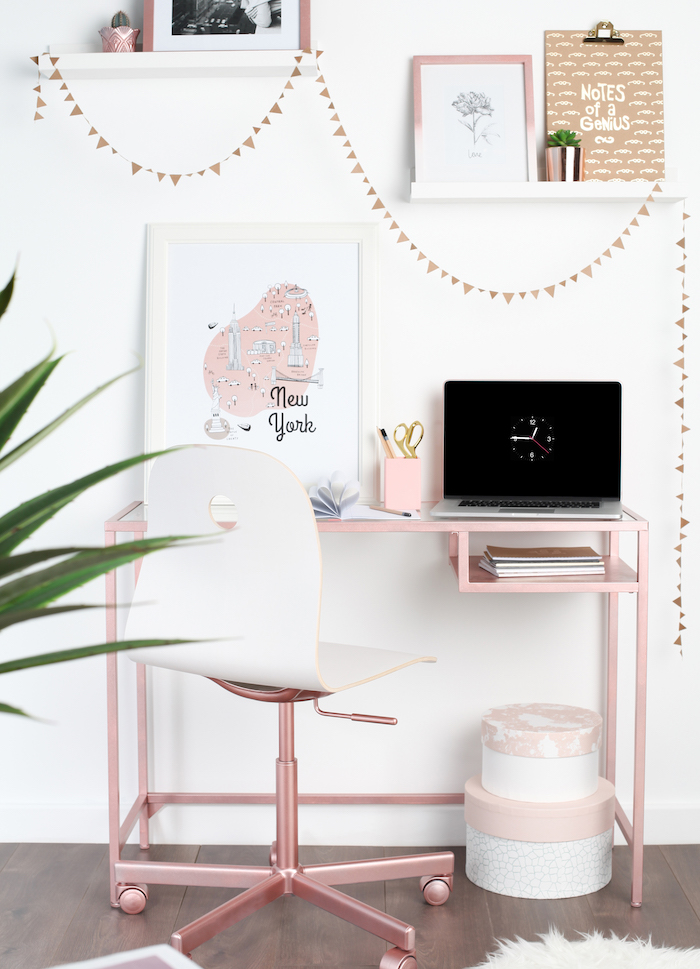 Chambre rose et gris quelle couleur associer au rose poudre intérieur déco bureau simple