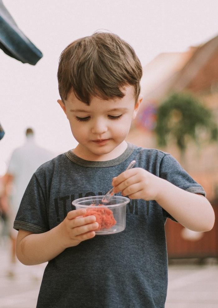 Sorbet sans sorbetière recette sorbet fraise sans sorbetière fruits d été recette glace simple enfant qui mange sorbet fraise