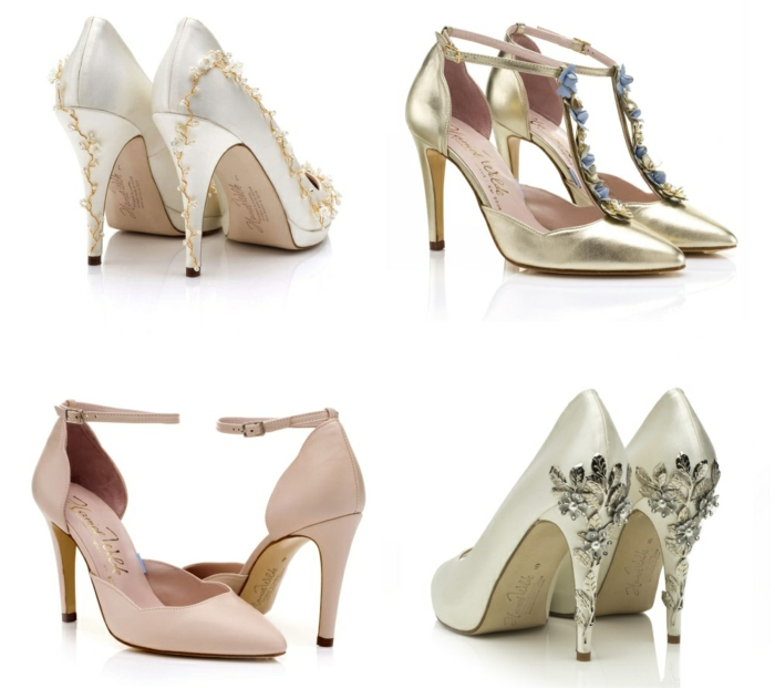chaussures ivoire, chaussure dorée mariage, chaussure argenté mariage, chaussure blanche mariage, escarpin ivoire, chaussure mariage ivoire