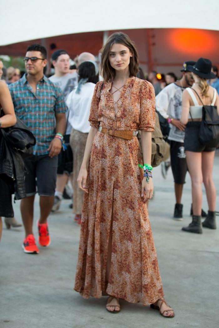 Robe longue fendue robe été longue actuelles tendances de la mode s habiller hippie chic pour l'été tendances