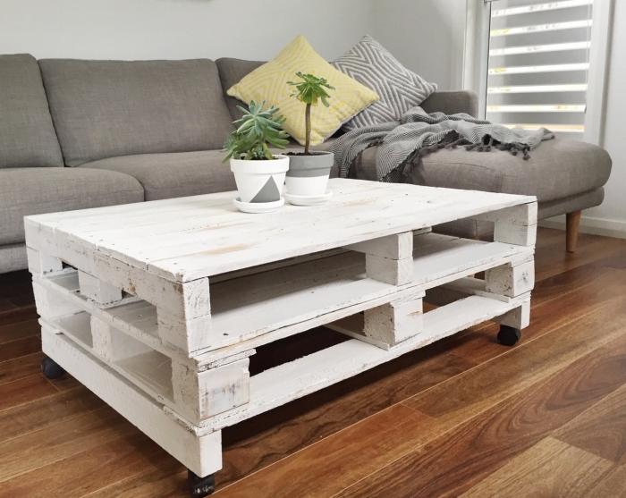 Fabriquer Une Table Basse En Palette U2013 Les Meilleurs Projets DIY à Réaliser  Soi Même ...