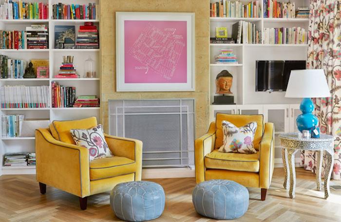 Jaune accent chambre coloré tableau rose couleur bois de rose vieux rose couleur chambre en rose et gris belle déco