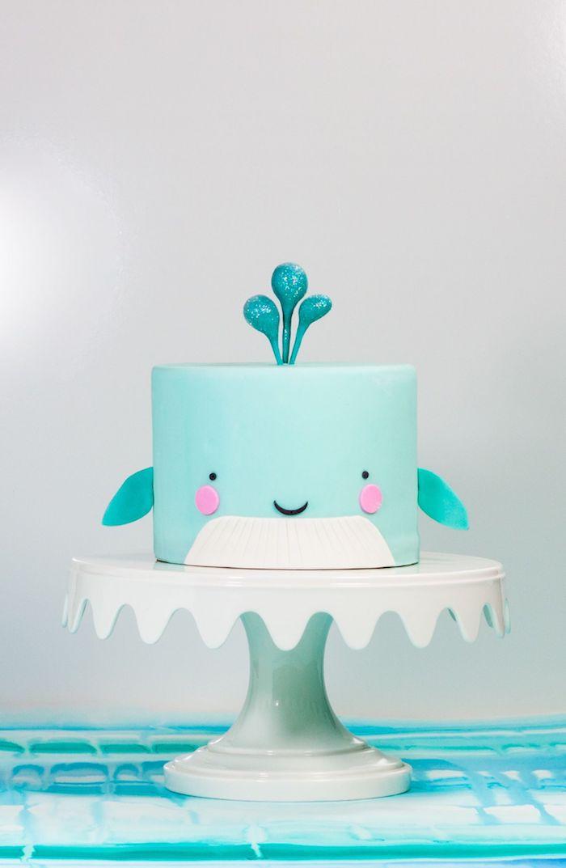 Gateau d'anniversaire fille dessert facile et rapide cool idée donner du sourire mignon bleu gateau