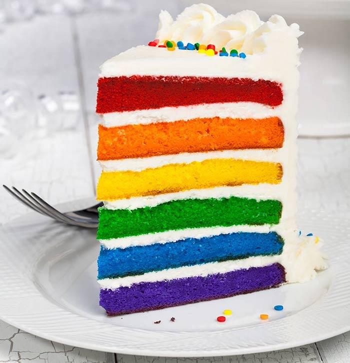 Choisir un gateau rapide comment décorer le gateau d'anniversaire enfant originale idee gâteau arc en ciel