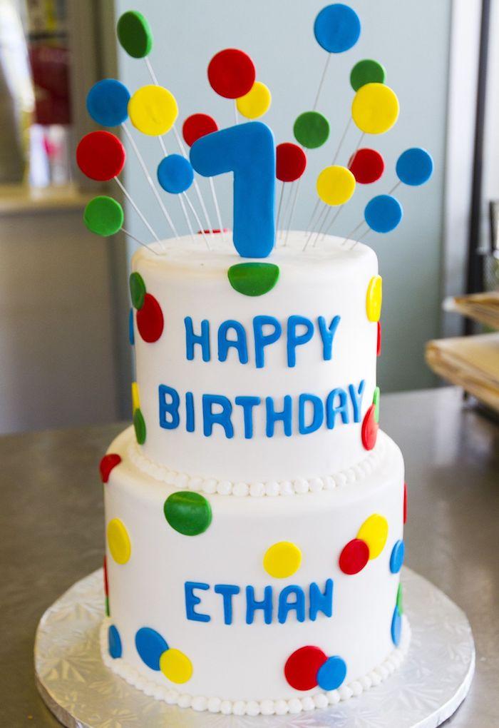 Quelle est la meilleure recette gateau anniversaire gateau enfant 1 an trop mignon gâteau en étages déco points colorés