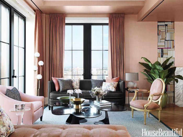 Magnifique salon vieux rose couleur chambre rose et blanc deco gris et rose ma chambre luxueuse