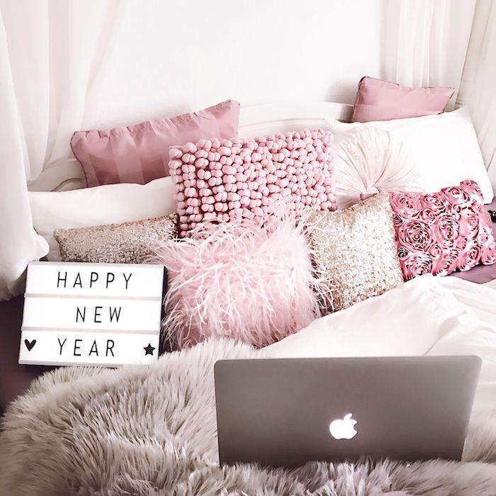 Chambre rose et gris quelle couleur associer au rose poudre style moderne pour ado cosy chambre à coucher
