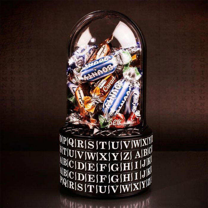 Bonne dée cadeau papa cadeau de noel pour homme coffret cadeau homme puzzle avec bonbons