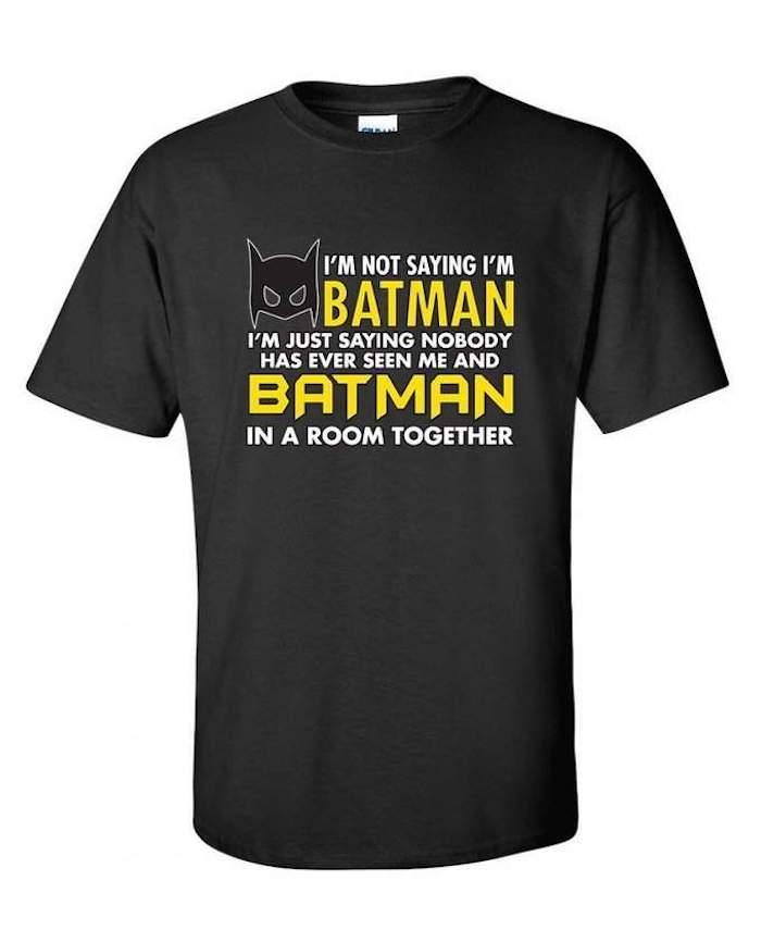 Idée cadeau grand père la meilleure idée cadeau d anniversaire chouette cadeau Batman tee shirt
