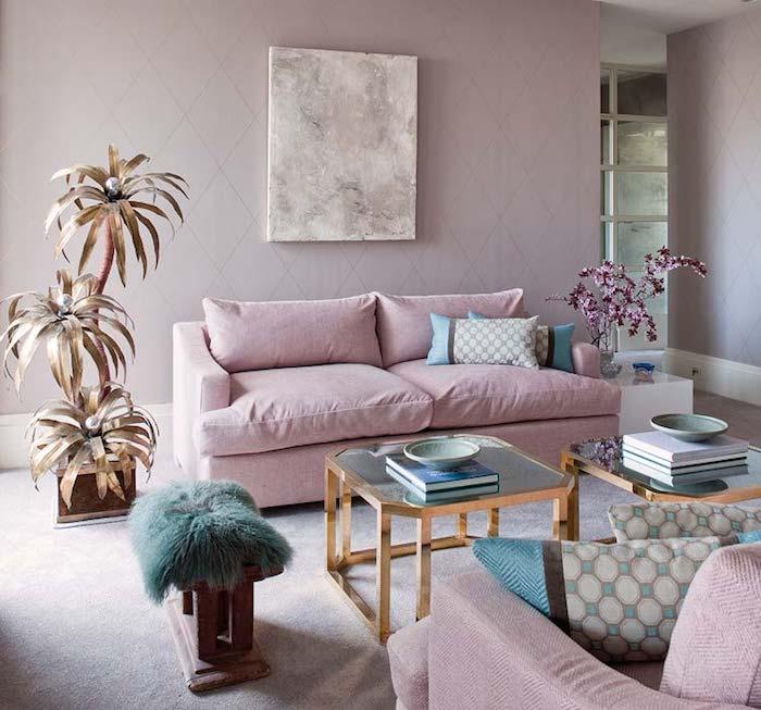 Comment décorer une salle de séjour en rose et blanc les meilleures idées intérieur stylé deux canapés roses