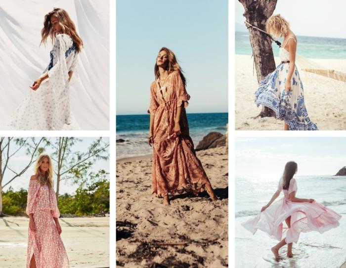 modèles de robe de plage chic et longue, matières et couleurs tendance pour choisir ses vêtements de plage femme