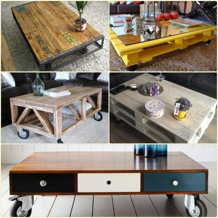 quelques idées pour fabriquer table basse avec des palettes récupérées qui trouvera aisément sa place dans tous les styles d'intérieurs