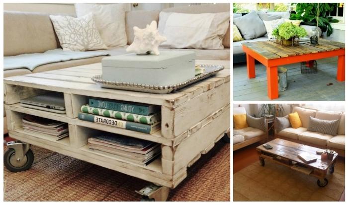 fabriquer une table basse avec des palettes récupérées pour apporter une touche authentique et originale aussi bien à l'extérieur qu'à l'intérieur