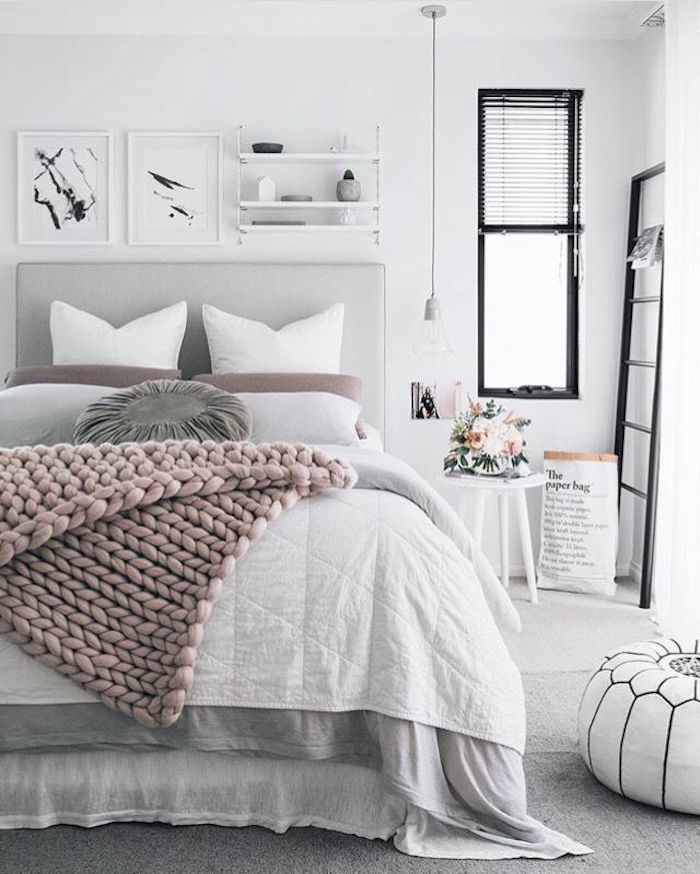 Idée deco rose poudré chambre rose et blanc comment décorer son appartement style scandinave