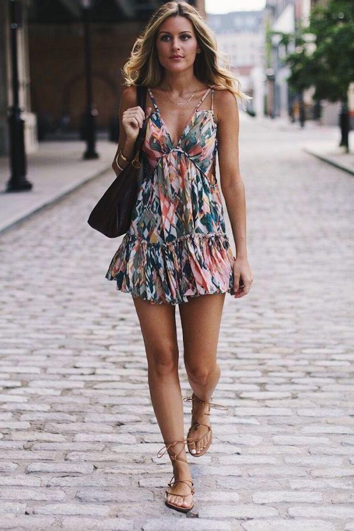 Robe bretelle robe de plage longue tenue d'été simple et chic pour se sentir bien idée tenue été