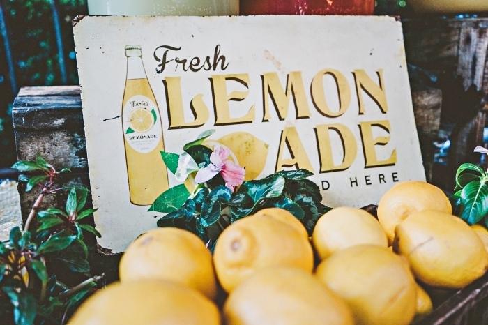 recette citronnade facile à préparer avec citrons et feuilles de menthe, idée boisson rafraîchissante pour l'été