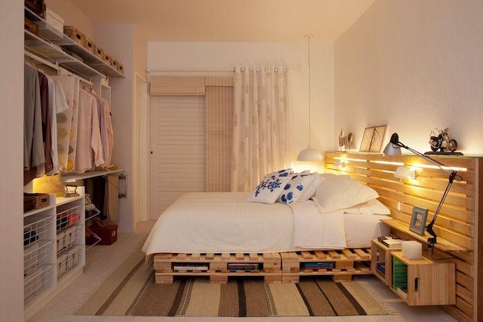 comment fabriquer un sommier avec des palettes lit en palettes perdues fines avec deux rangées de 2