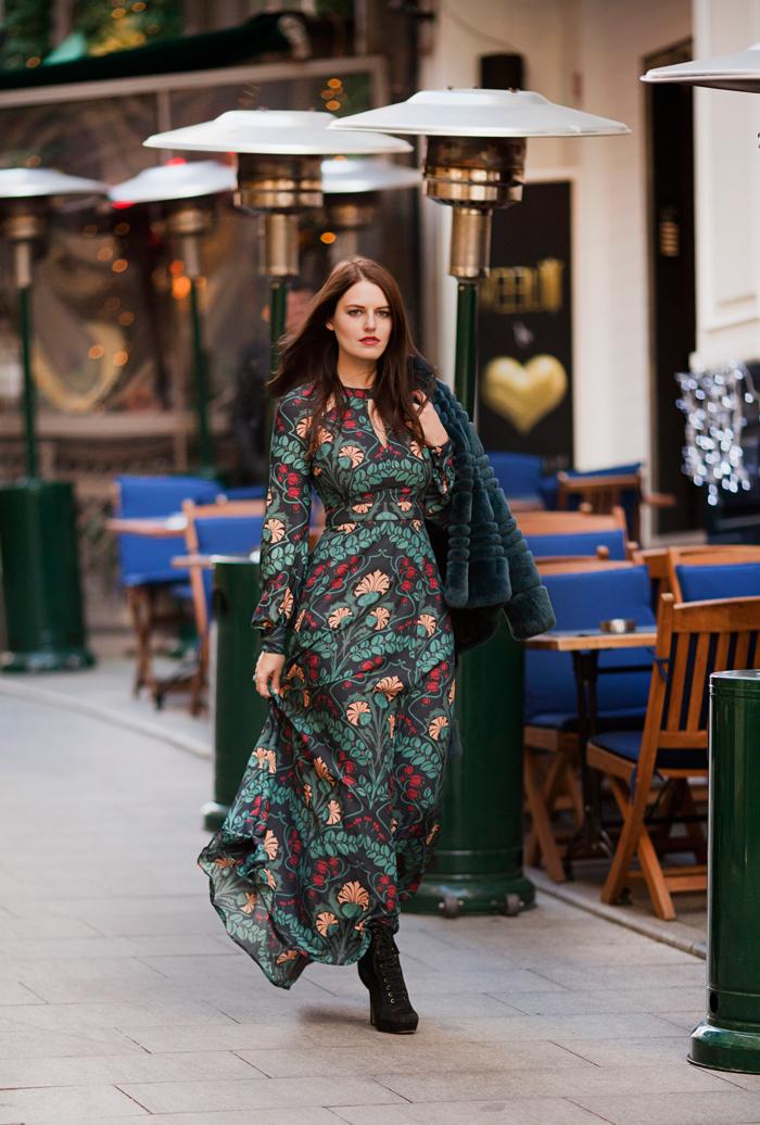 Idée tenue automne hiver 2018 robe boheme longue manche longue vetement hippie chic beauté et mode tenue de la rue