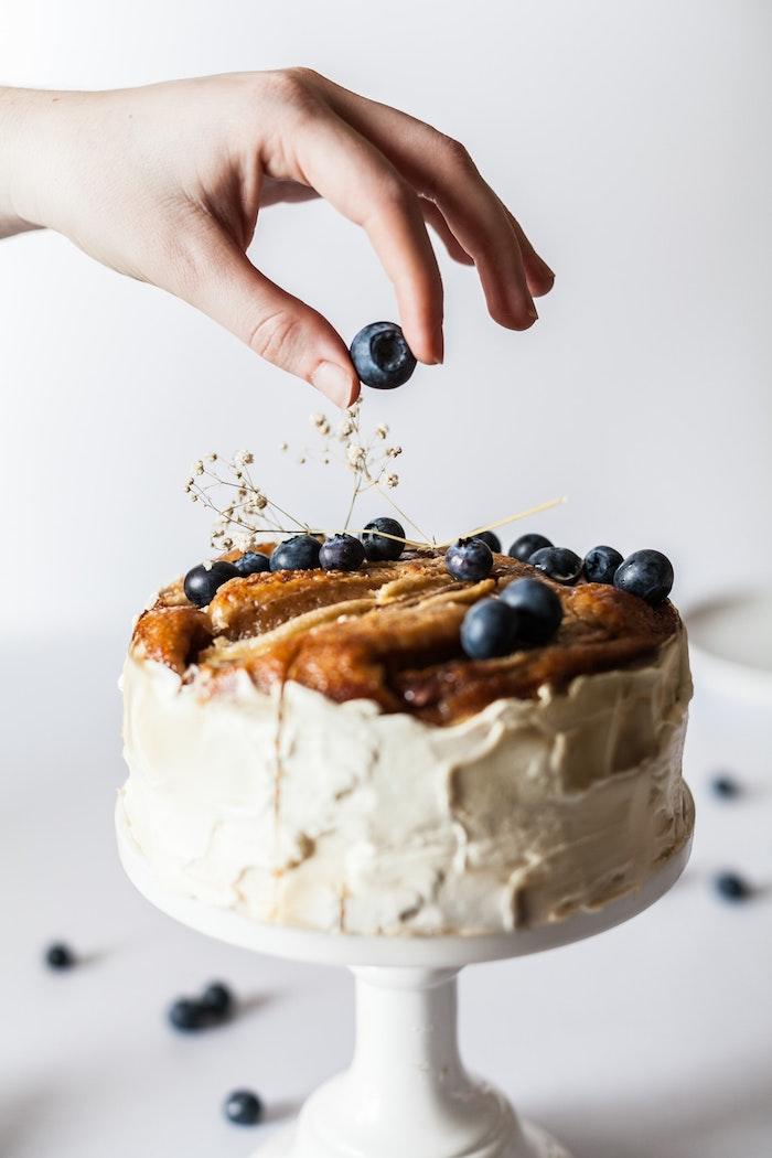 Gateau d'anniversaire fille gateau rapide gâteau pour enfant dessert simple design adorable myrtilles mignon gateau