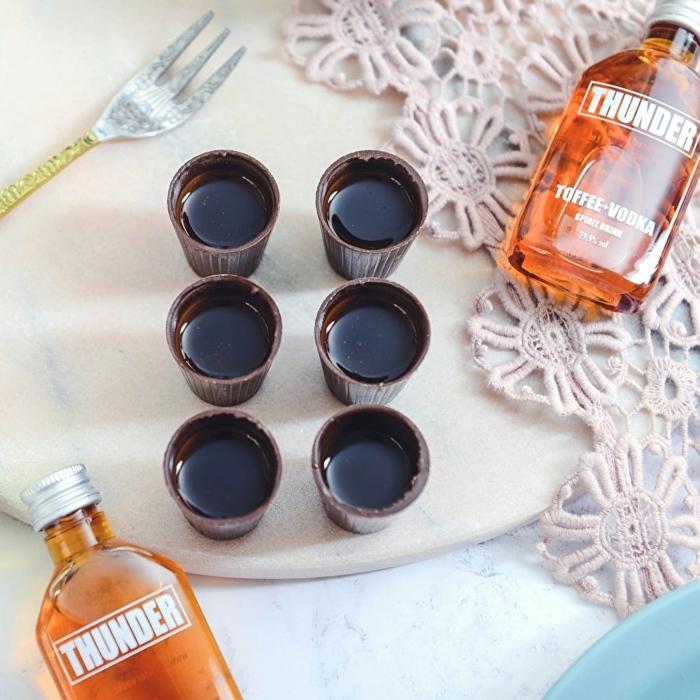 La meilleure idée cadeau grand père cadeau personnalisé homme cadeau verre chocolat et brendy