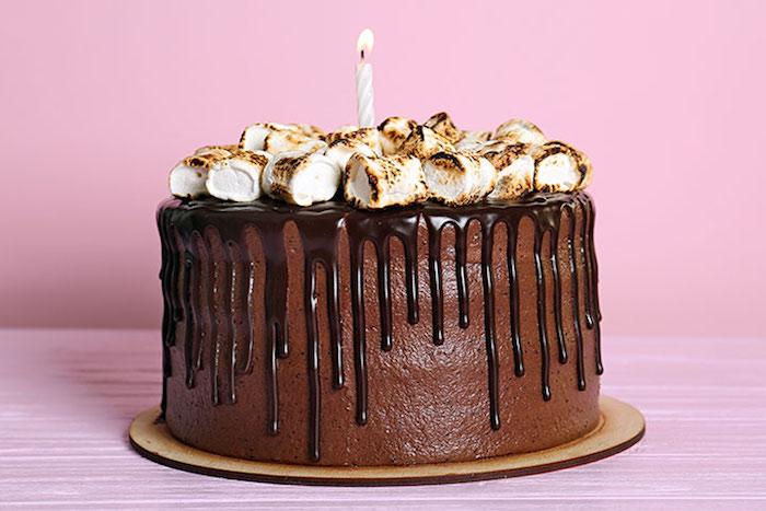 Gâteau pour enfant gateau anniversaire 2 ans gateau rapide organique gateau adorable avec marshmallow et chocolat noir