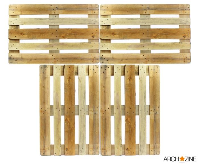 modele de schéma pour fabriquer sommier en palettes avec table de chevet