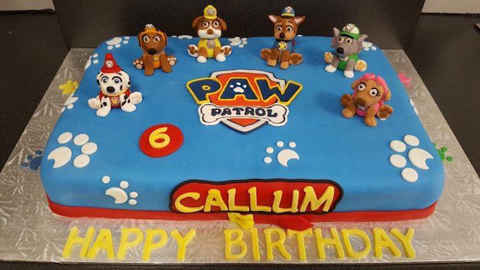 Dessert facile et rapide recette gateau anniversaire personnalisé 2 ans anniversaire paw patrol
