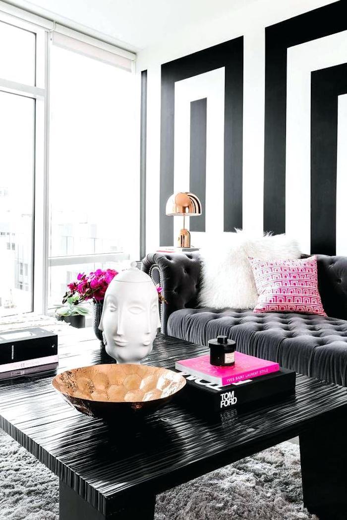 Quelle couleur associer au rose poudre deco rose poudré tendance couleur mur bicolore géométrique