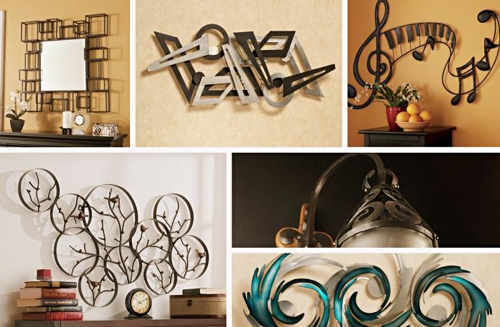 Magnifique décoration murale en fer design u créations en métal