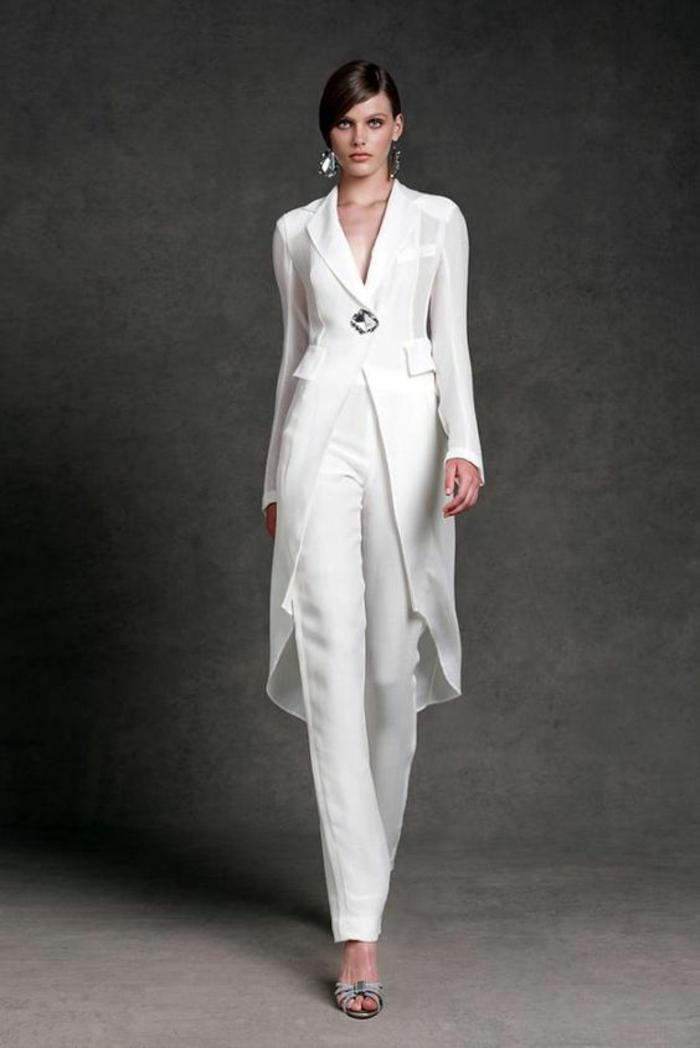 Veste longue faux cuir femme