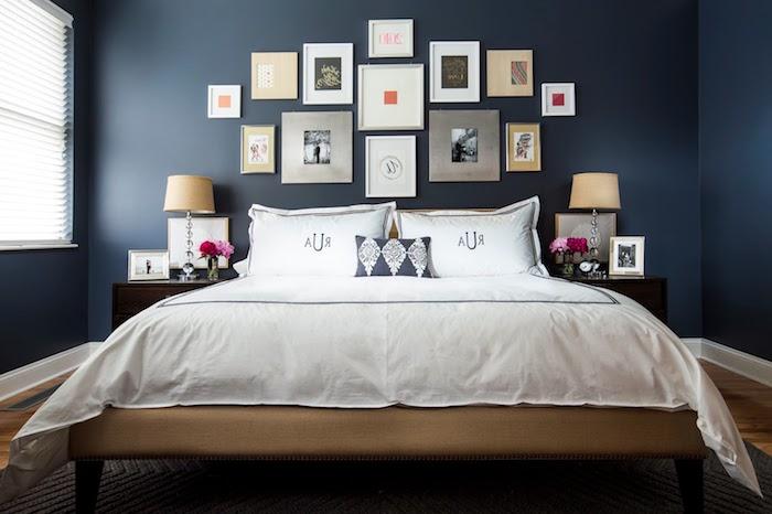 Agreable Aménagement Chambre Adulte Chambre Parentale Moderne Superbe Idee Deco Bleu  Mur Photos Couleur ...
