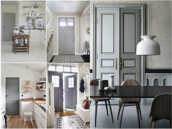 la porte d'intérieur en nuances du gris se fait un accent chic et élégant et d'adapte à tout style déco