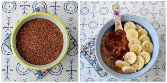 recette healthy de porridge exotique de teff riche en fibres et en protéines végétales