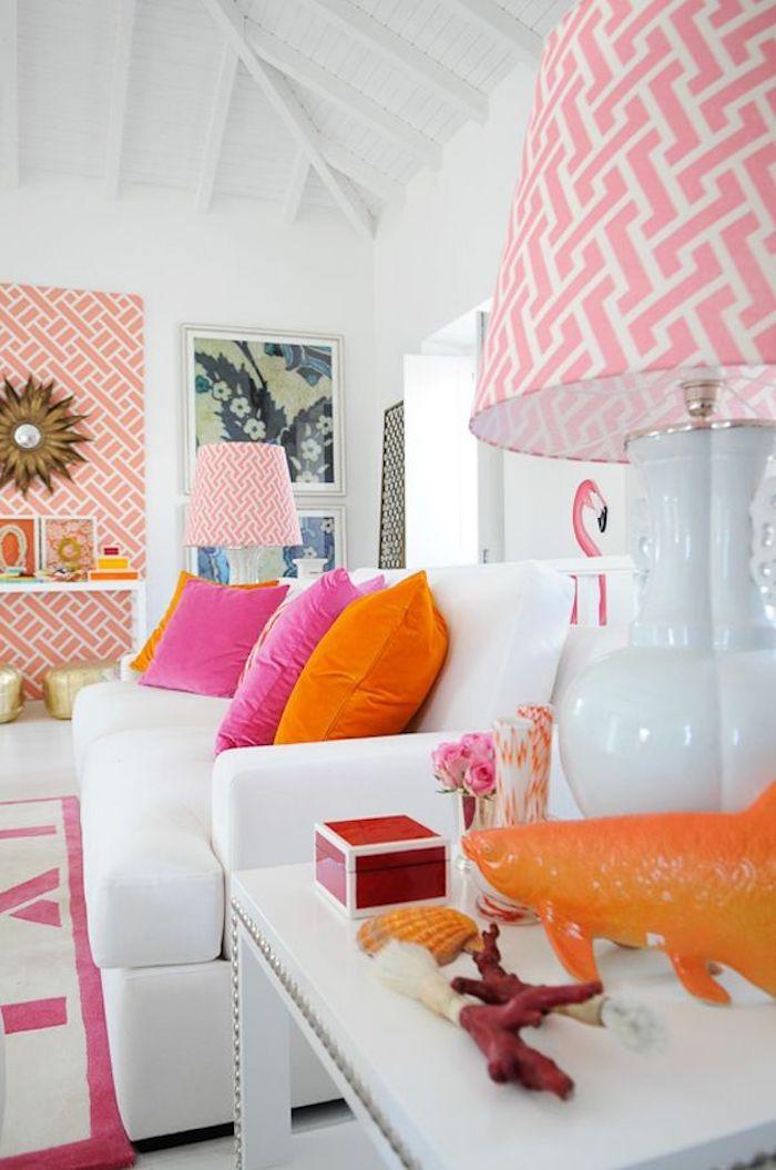 Couleur bois de rose deco rose poudré design maison moderne idée intérieur rose sur les détails et sur le mur habillée
