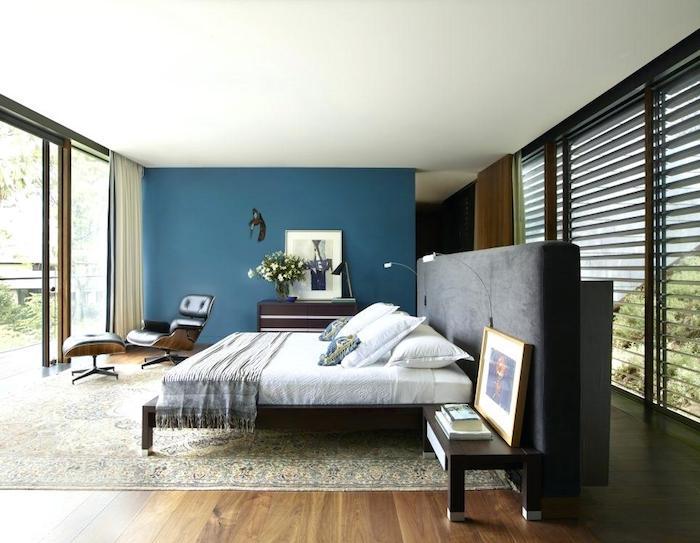 Chambre parentale moderne idée papier peint chambre la meilleure idee chambre deco