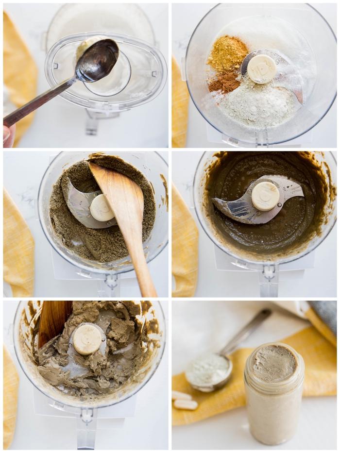 recette efficace de dentifrice bicarbonate de soude, huile de coco, argile et xylitol enrichi de probiotique, pour booster la minéralisation et le microbiome