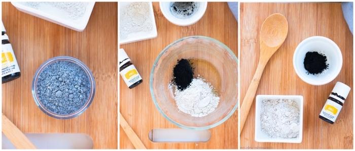 comment fabriquer dentifrice efficace et naturel sous forme de poudre dentaire, recette de dentifrice en poudre à base d'argile, charbon actif et huiles essentielles