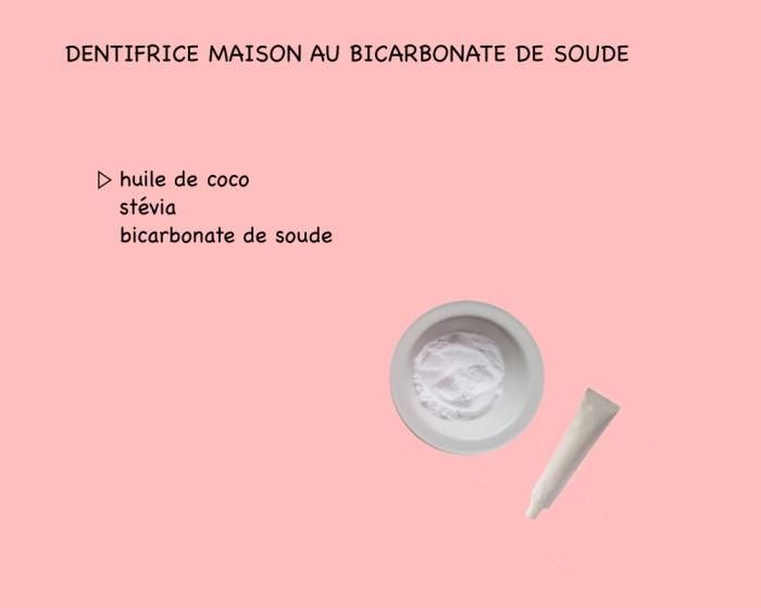 recette de dentifrice huile de coco, stévia et bicarbonate de soude, hygiène bucco-dentaire avec des remèdes naturels