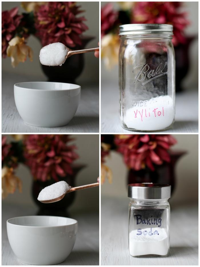recette de dentifrice huile de coco, bicarbonate de soude et xylitol pour prendre soin de ses dents naturellement et avoir un sourire beau et sain