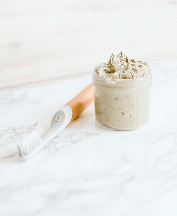 recette dentifrice reminéralisant et anti-cavités, à l'argile, bicarbonate de soude et xylitol
