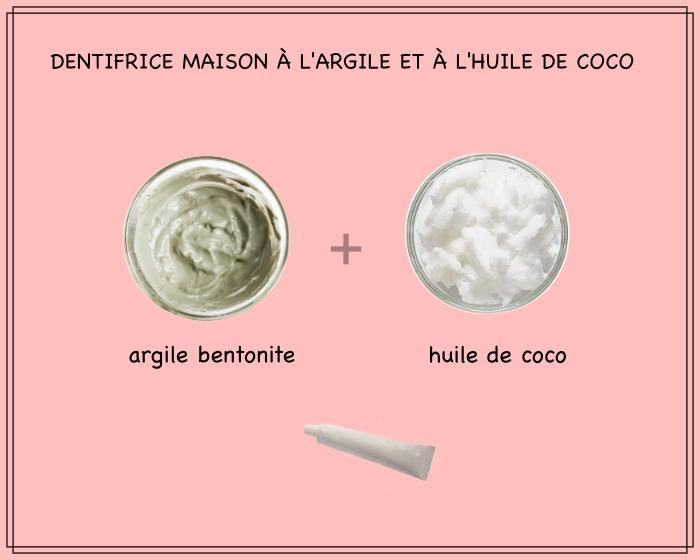 fabriquer son dentifrice à la maison avec seulement deux ingrédients naturels, recette de dentifrice à l'argile bentonite et à l'huile de coco