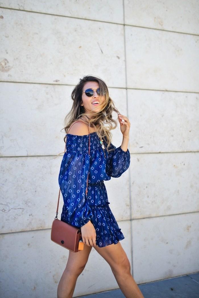 Cool idée robe légère été 2018 tendance épaules dénudées robe droite fluide cool idée comment s'habiller