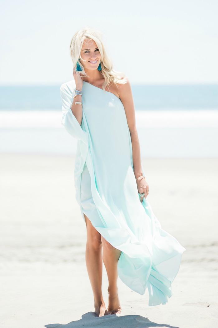 Robe blanche boheme robe fluide longue comment s habiller pour l ete bleu robe pour aller à la plage